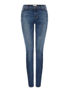 Hudson Jeans Nico mid rise super skinny jean in mid wash