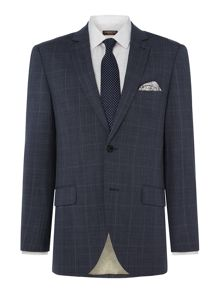 Corsivo Larello Italian Wool Prince of Wales Suit Jacket