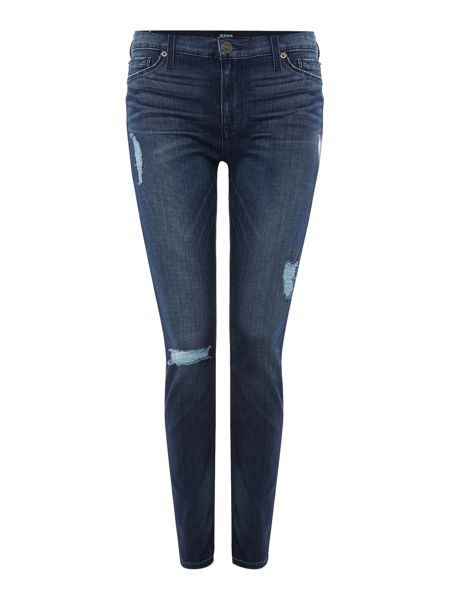 Hudson Jeans Nico mid rise spray on skinny jean in mid wash