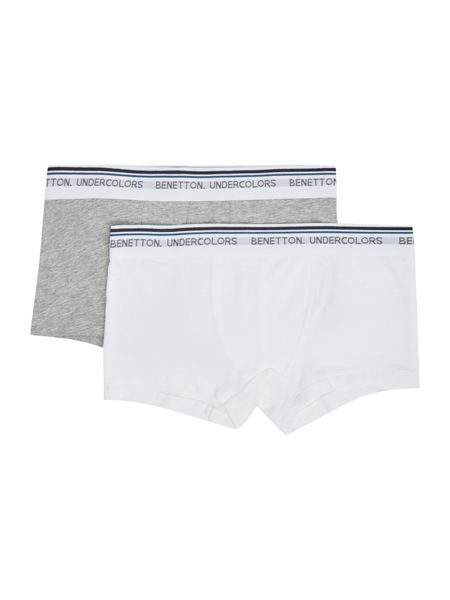 Benetton Boys 2 Pack Logo Waistband Trunks