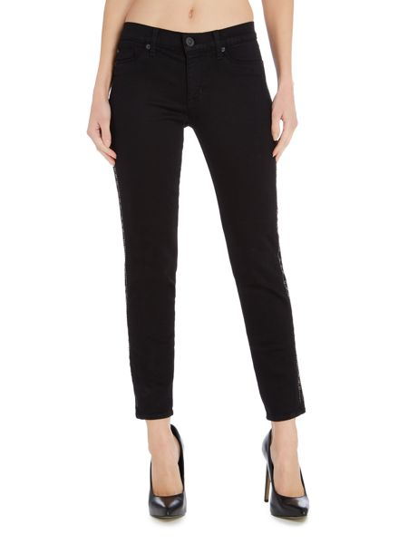 Hudson Jeans Luna star studded skinny jean in black