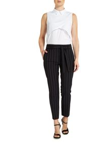Therapy Lyra Pinstripe Paperbag Trousers
