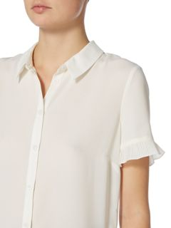 Therapy Faye Pleat Sleeve Detail Top