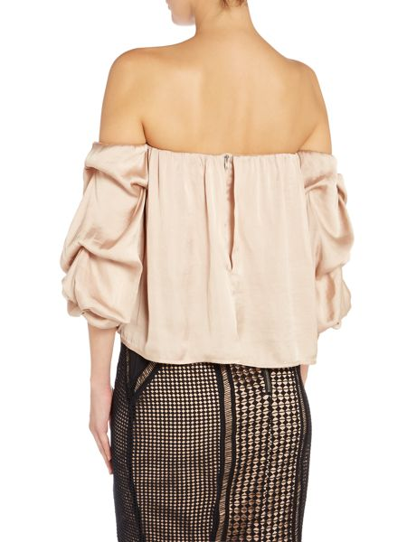 Bardot Long Sleeved Bell Sleeve Bustier Top