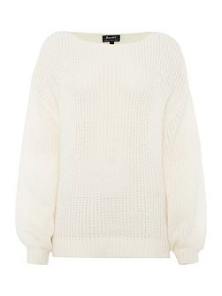 Long Sleeved Bell Sleeve Knitted Jumper