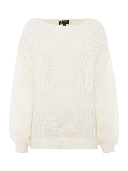 Bardot Long Sleeved Bell Sleeve Knitted Jumper