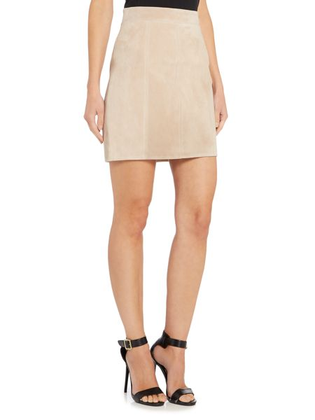 Bardot Suede Mini Skirt