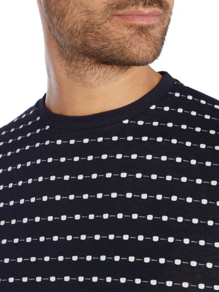 Soulland Fernell dot stitch crew neck t-shirt