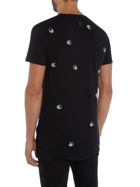 Religion Skull pattern embroidery crew neck t-shirt