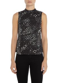 Vero Moda Animal Print High Neck Top
