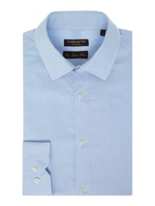 Corsivo Palermo Italian fabric Satin Textured Twill Shirt