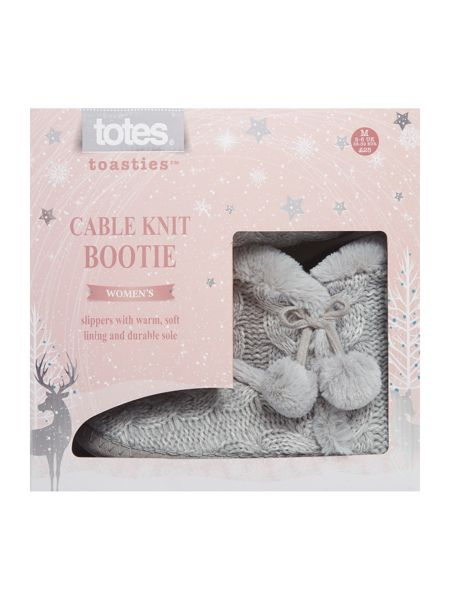 Totes Cable knit boot