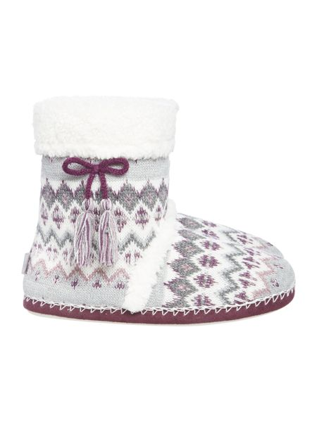 Totes Fairisle boot slipper