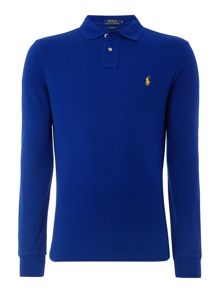 Polo Ralph Lauren Plain Polo Shirt Long Sleeve Custom Fit