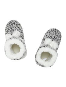 Totes Bobble knitted bootie slipper
