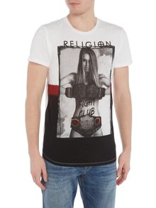 Religion Fight club girl crew neck t-shirt