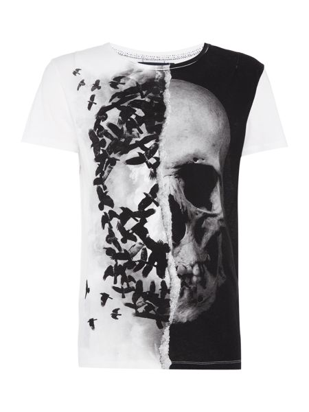 Religion Skull and birds crew neck t-shirt