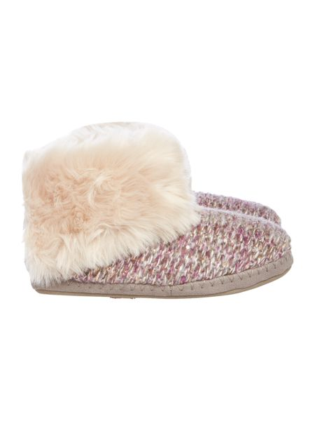 Totes Knitted boot slipper