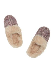 Totes Knitted mule slipper