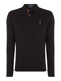 Pima Soft Long Sleeve Polo Shirt