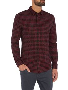 Religion Broken check long sleeve shirt
