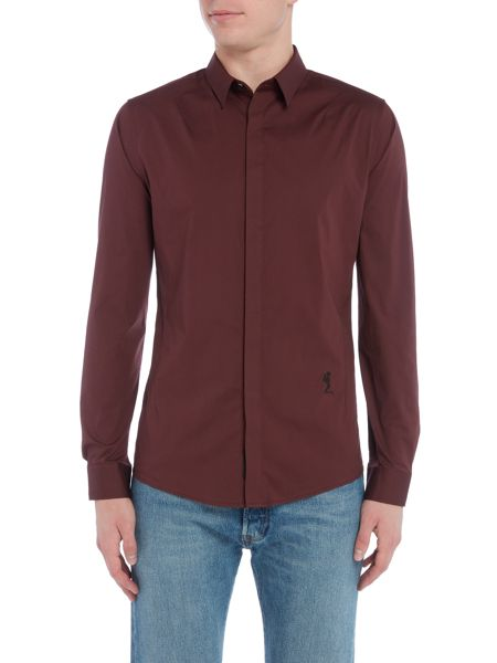 Religion Long sleeve slim fit basic shirt