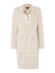 Episode Longline check detail coat