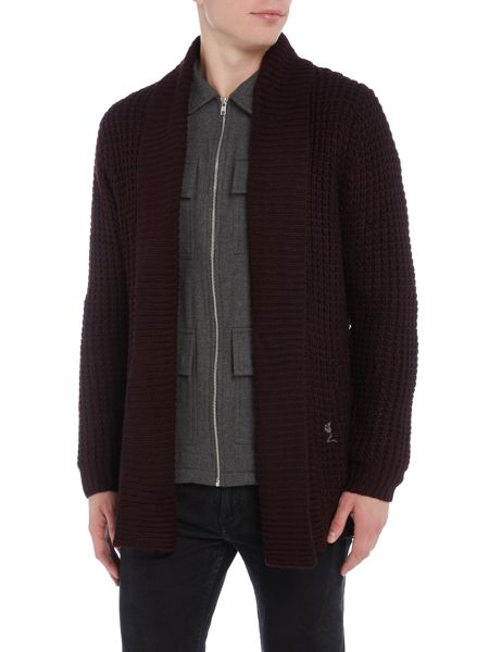 Religion Chunky knitted cardigan