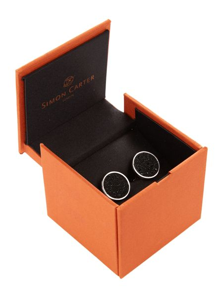 Simon Carter Midnight Swarovski Crystal Cufflink