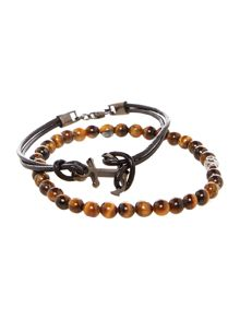 Simon Carter Anchor Bracelet With Mini Skull Set