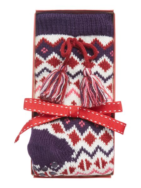 Totes Fairisle shipra lined sock