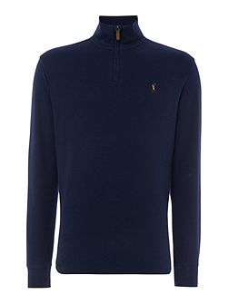Half zip french rib sweat