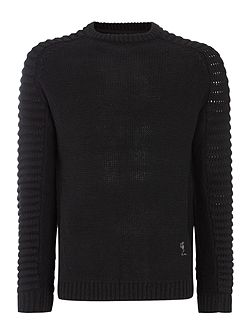 Chunky ribbed sleeve jumper