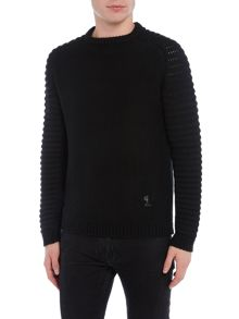 Religion Chunky ribbed sleeve jumper