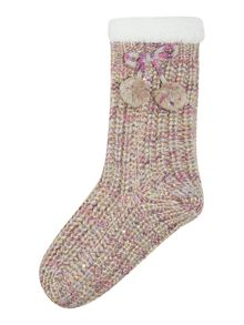 Totes Lurex sequin sock