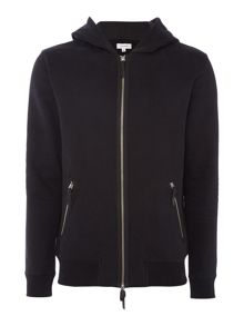 Soulland Lineker zip up hooded sweat top