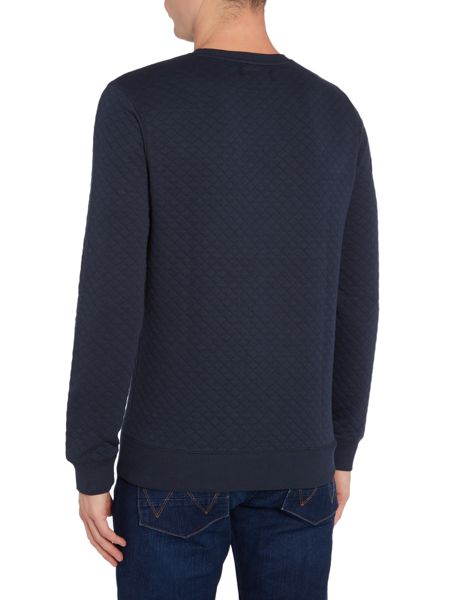 Soulland Huddleston quilted crew neck sweat top