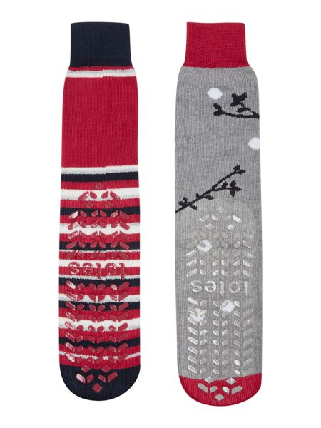 Totes Penguin and reindeer pack of socks