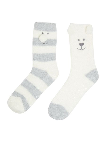 Totes Twin bear neighbours sock pack