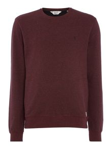 Original Penguin Mouline Loop-Back Crew-Neck Sweatshirt