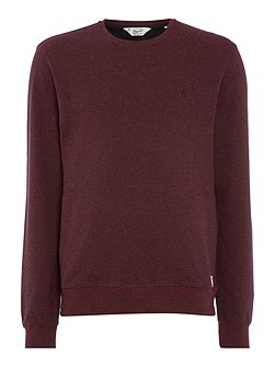 Mouline Loop-Back Crew-Neck Sweatshirt