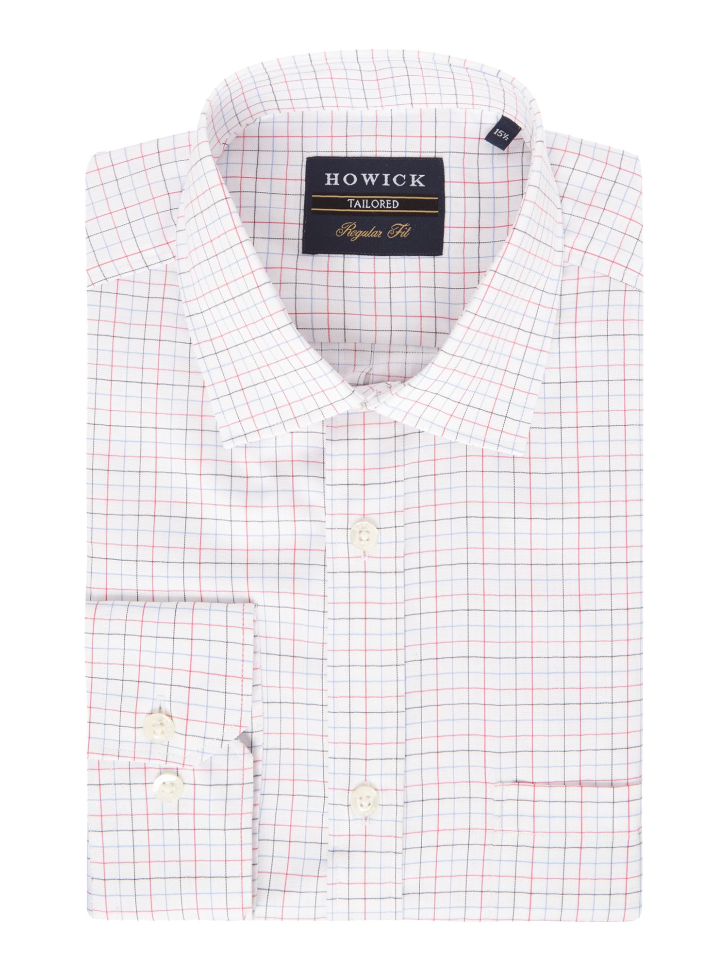 Howick Tailored Men's Howick Tailored Greenway Miniature Check Shirt, Pink