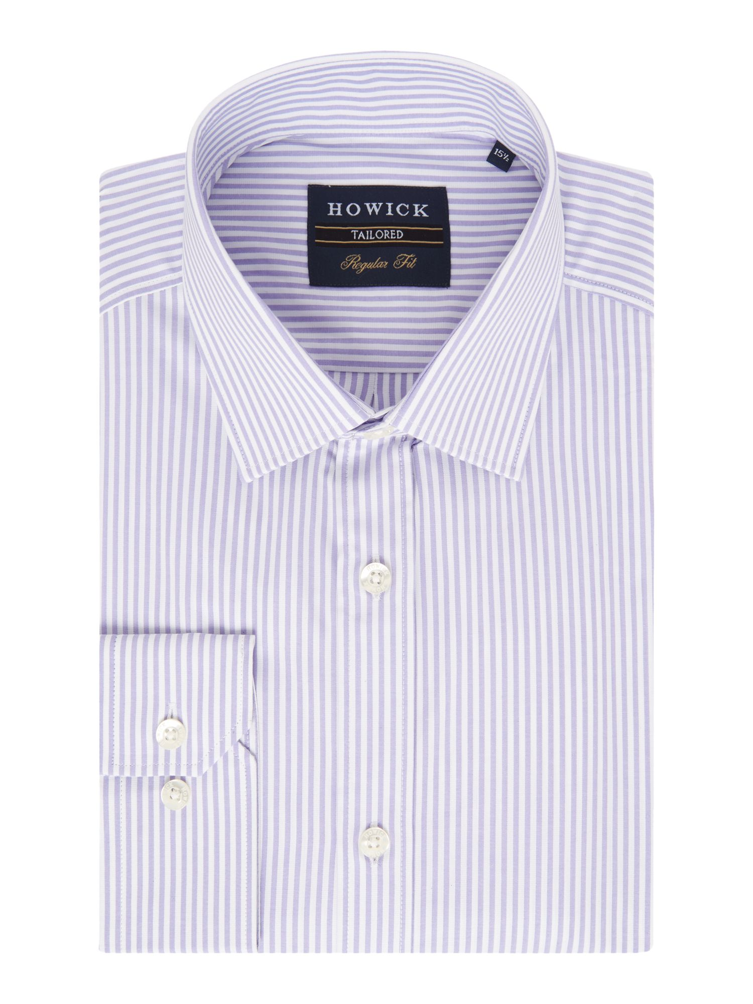 Howick Tailored Men's Howick Tailored Pine Micro Stripe Shirt, Lilac