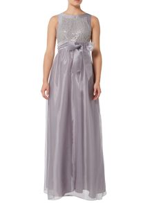 Eliza J Organza tie waist bridemaid dress