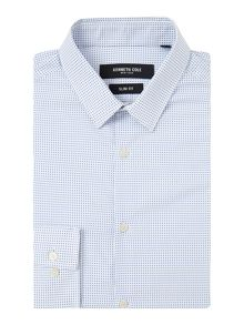 Kenneth Cole Journal Square Print Shirt