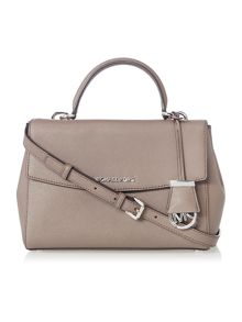 Michael Kors Ava taupe small satchel bag