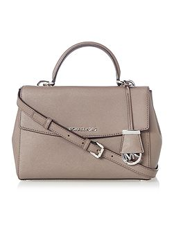 Ava taupe small satchel bag