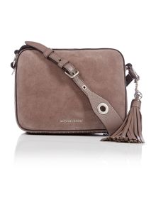 Michael Kors Brooklyn taupe cross body bag