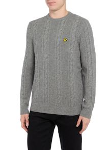 Lyle and Scott Lambswool Cable Knit Crew Neck Jumper