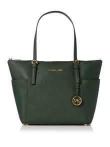 Michael Kors Jetset item green top zip tote bag